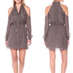 Cooper & Ella Brown Cold Shoulder Tie Dress